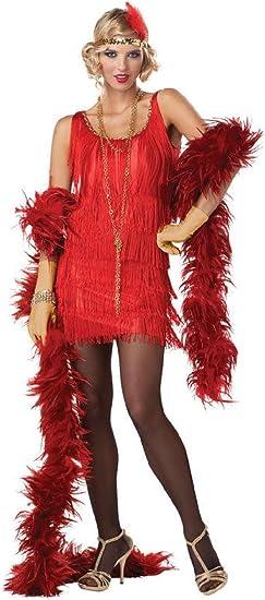 Flapper Costume Adult Halloween Fancy Dress
