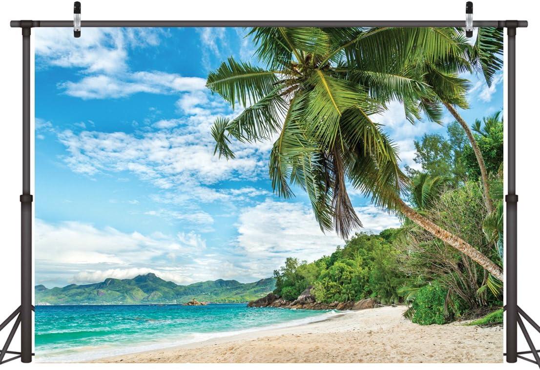 LYWYGG 10x8FT Hawa/ïenne Plage Fond Plage Tropicale Photographie Fond En Plein Air Fond Photographie Accessoires CP-8-1008