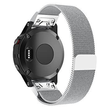 Pinhen Correa de Repuesto para Reloj Inteligente Garmin Fenix 5, 22 mm, Acero Inoxidable