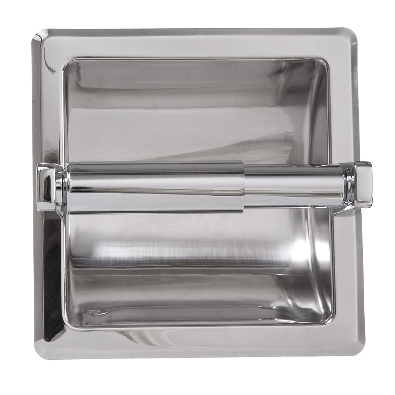 amazoncom arista bath products recessed toilet paper holder satin nickel home u0026 kitchen