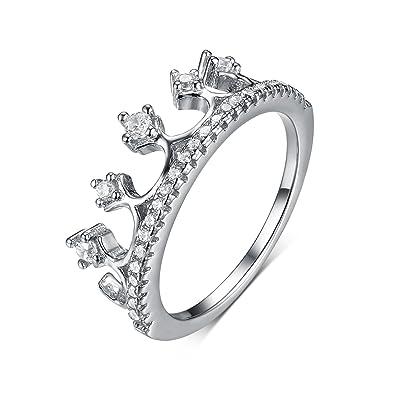 0df50075b587 Silver Zircon Princess Crown Ring - 925 Sterling Silver Cute Crown Rings  Zircon Ring Zircon Engagement