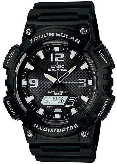 Casio Collection Reloj de Hombre Solar Reloj Ana Digi 5 alarmas diarias AQ de s810 W de 1avef: Amazon.es: Relojes