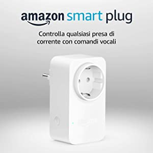 Amazon Smart Plug (presa intelligente con connettività Wi-Fi), compatibile con Alexa, Dispositivo Certificato per gli umani