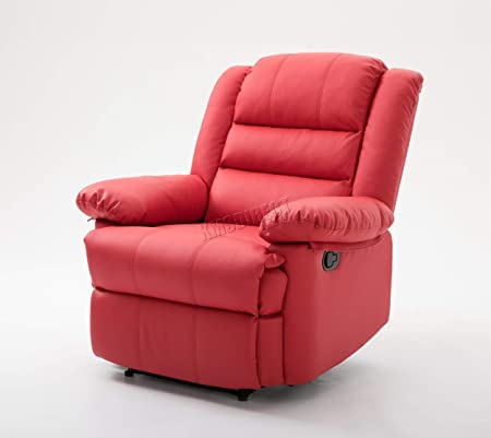 Westwood Bonded Pu Leather 1 Seater Cinema Recliner Sofa Chair