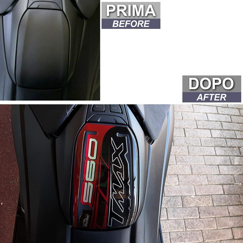 ADESIVO 3D PROTEZIONE SPORTELLO SERBATOIO COMPATIBILE YAMAHA TMAX 560 2020 RED