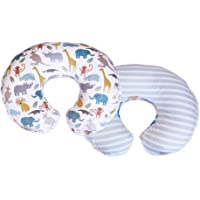 Boppy Cozy Nursing Pillow Cover, Pastel Animal Stripe, Minky Fabric in a Fashionable Two-Sided Design, Fits All Boppy…