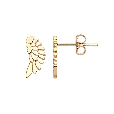 52a04c9f405c9 Estella Bartlett Gold-Plated Angel Wing Stud Earrings: Amazon.co.uk ...