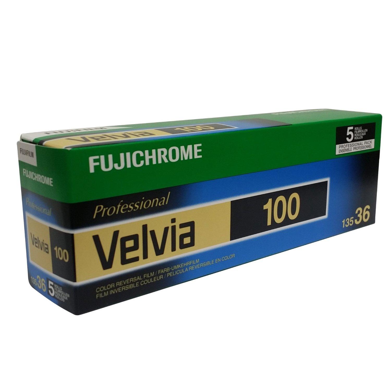 Fujifilm 16326042 Fujichrome 35mm Velvia 100 Color Slide Film ISO 100 - 5 Rolls of 36 Exposures (Green/White/Purple) [並行輸入品] B0187PAUEU