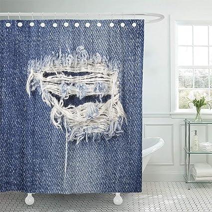 0a1500d8e4bfd Amazon.com: Wlioohhgs Blue Rip Jeans Torn Denim Hole Material ...