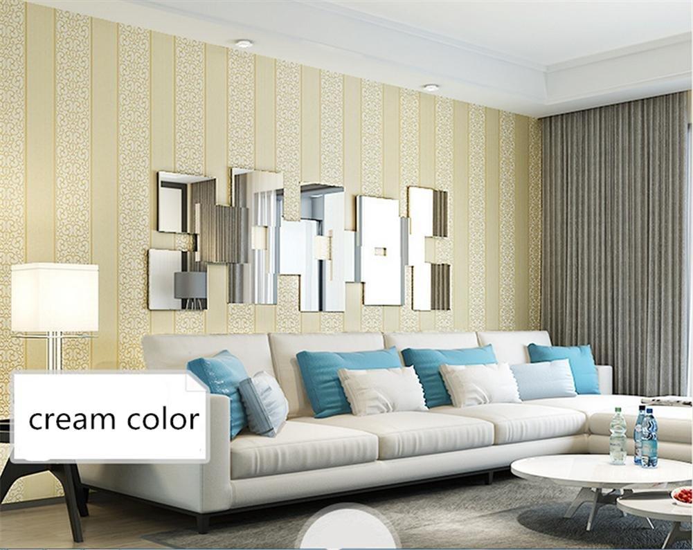 Wallpaper thicker Mediterranean style 3D paper vertical striped ...