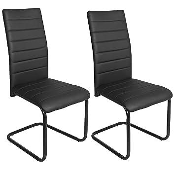 Abitti Pack 2 sillas para Comedor o Salon tapizadas en Color Negro y ...