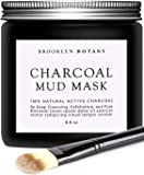 Brooklyn Botany - Activated Charcoal Mud Mask + Facial Brush - Facial Mask For Deep Cleansing Exfoliation - Best for Shrinking Pores, Black Head Remover & Blackhead Mask - 8.8 fl oz