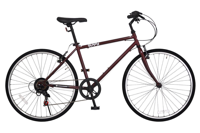 ANIMATO(アニマート) クロスバイク 26インチ 7段変速 SURFY 1年保証 B07DTPW3CWダークレッド