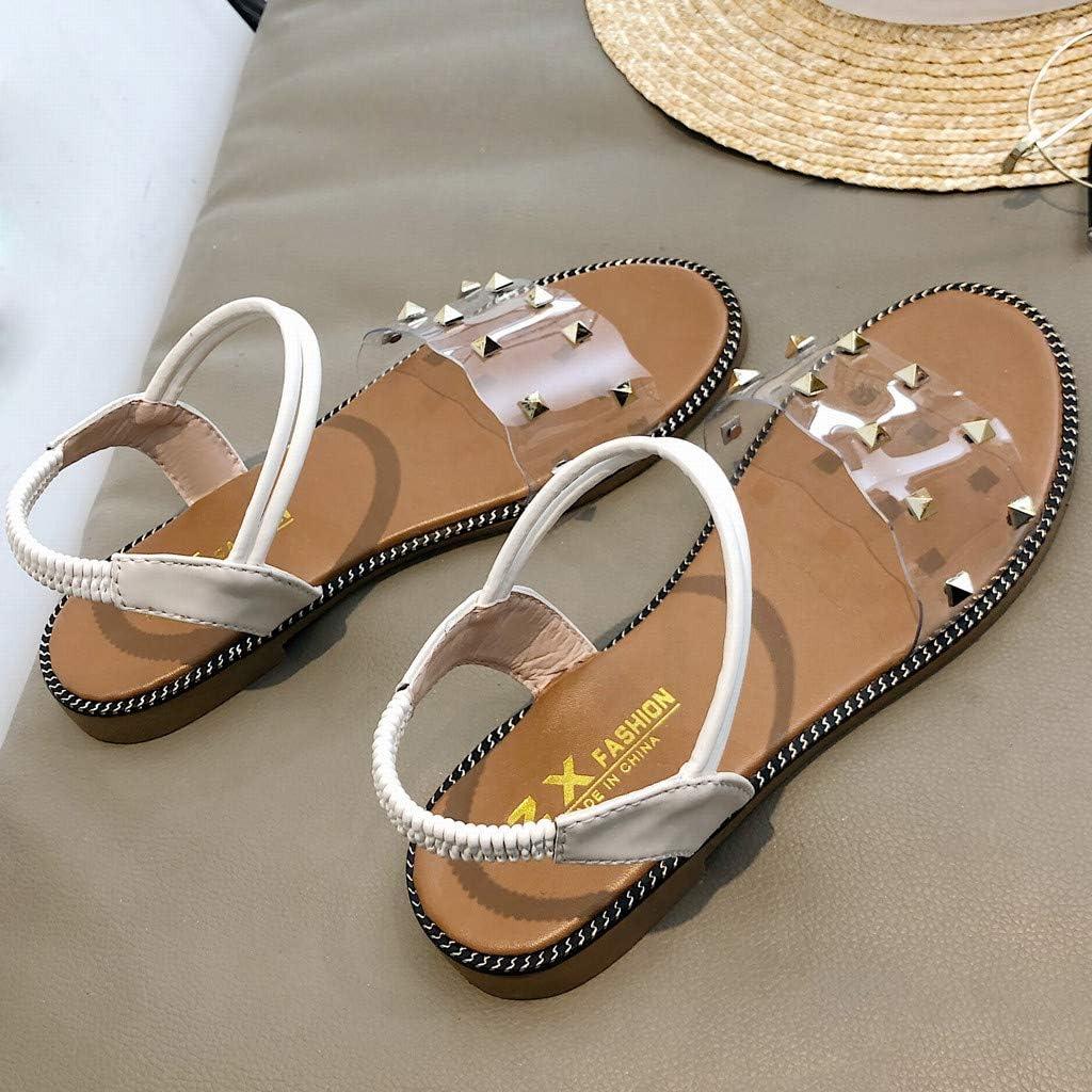 Womens Bohemia Rhinestone Flat Sandals Summer Flip Flops Casual Non-Slip Slippers Beach Party Dress Shoes