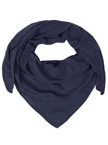 95447b116e Zwillingsherz Dreieckstuch aus 100% Kaschmir - Hochwertiger Schal im Uni  Design für Damen Jungen und