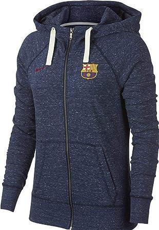 Nike Damen FC Barcelona Gym Vintage Hoodie Mit Durchgehendem