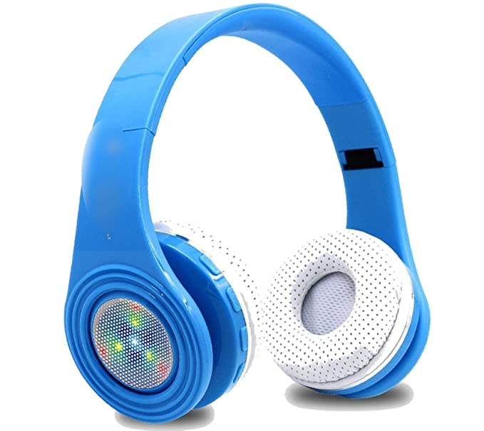 Glowing Bluetooth Fone Stereo Bass Headsets Built-in Mic LED TF FM Radio for Phones