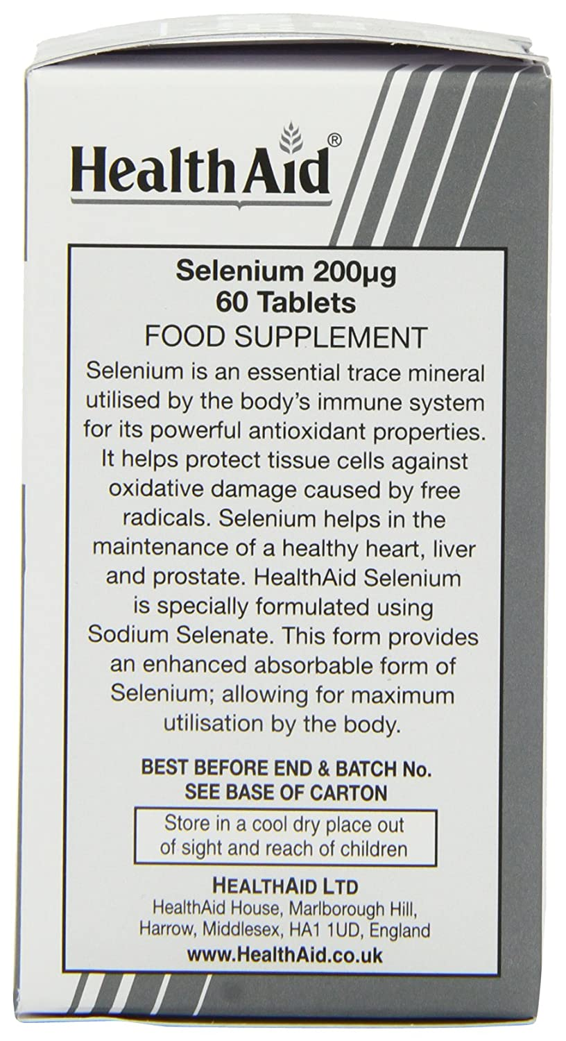 Buy HealthAid Selenium 200mcg - 60 Tablets Online at Low Prices in ...