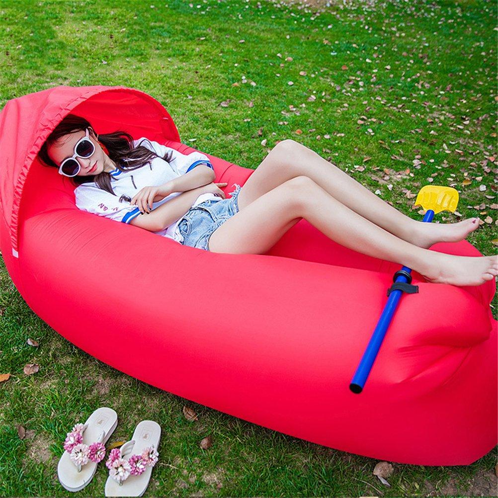 GFYWZ Kampierende Aufblasbare Liege-Couch Mit Tragetasche, Luft-Sofa-Explosions-Klubsessel Für Das Reisen Im Freien, Das Park-Pool-Strand-Parteien Wandert