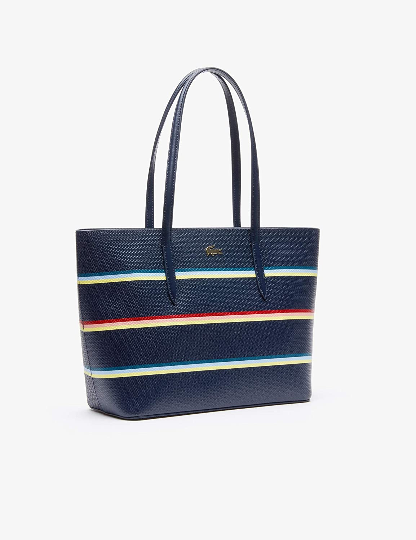 a061788e47 Lacoste Chantaco Fantasie M Zip Shopping Bag Strip Multico Peacoat:  Amazon.fr: Chaussures et Sacs