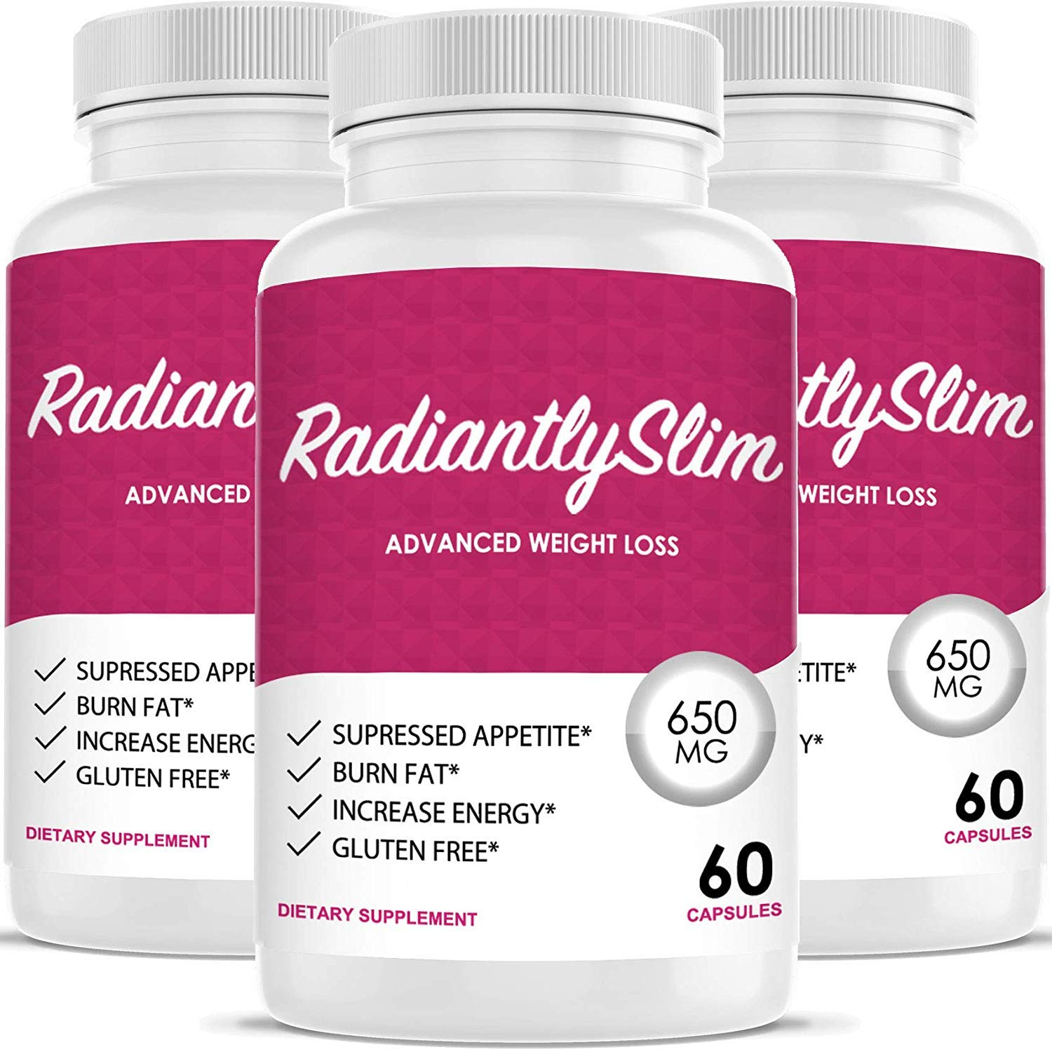 Radiantly Slim Pills for WeightLoss – Advanced Weigh Loss Supplement – Quicker Fat Burn – Carb Blocker 3 Month Supply