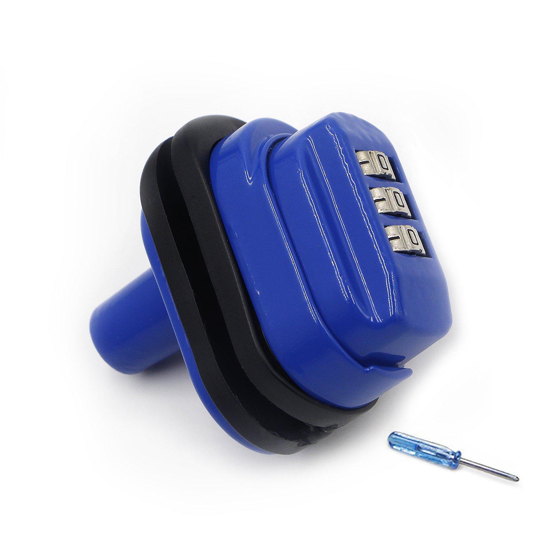Trigger Lock 3 Digit Combination Gun Lock 1 Pack Fits Pistols Hand Gun Rifles Bb Gun Shotguns Blue (1PCS)