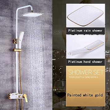 ZH Shower Acero inoxidable moderna Columna ducha de cobre ducha ...