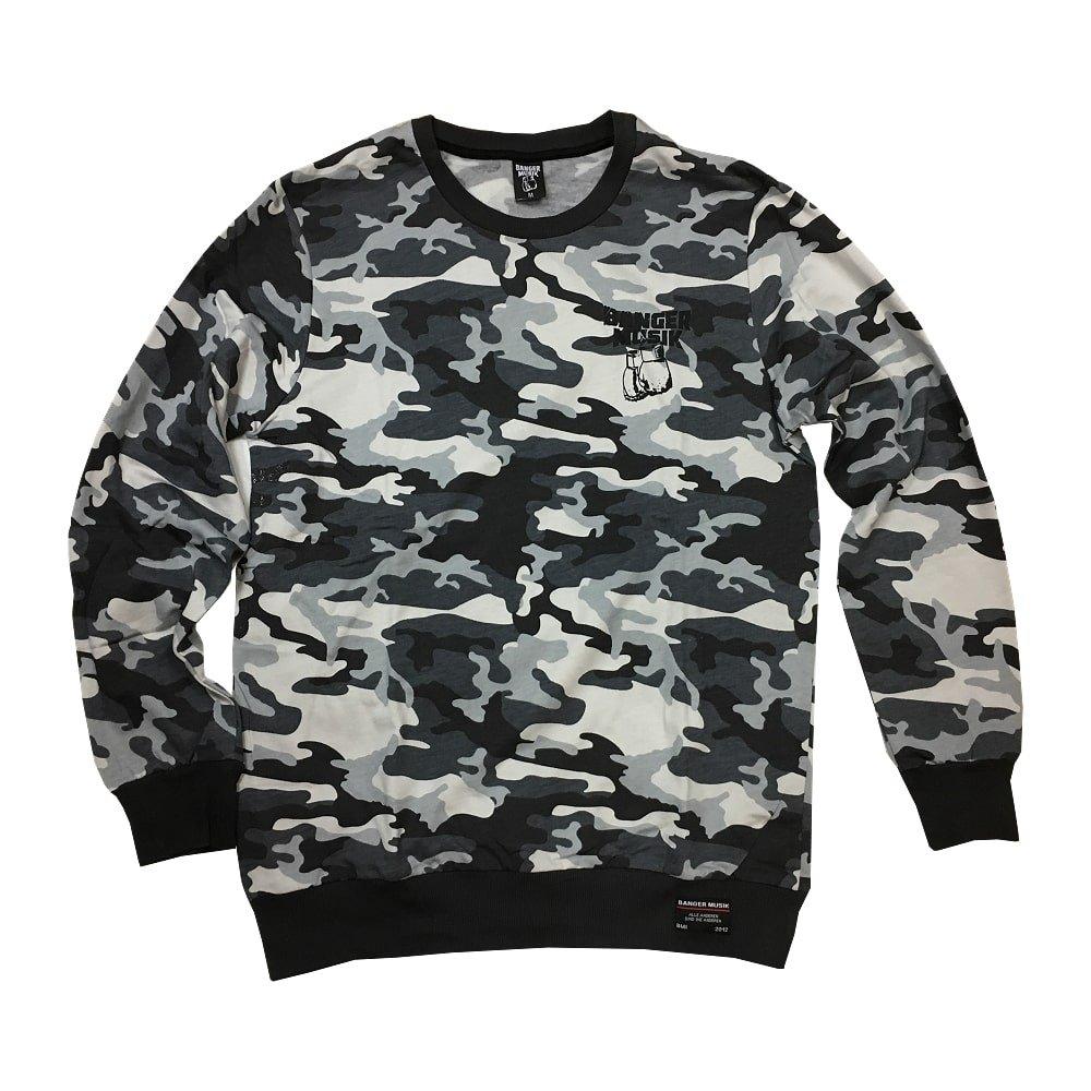 Banger Musik Sweater Logo schwarz camo