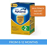 Aptamil Gold+ Follow-on Formula Multipack Stage 2 Sachet, 4 Pack, 123.2 Grams