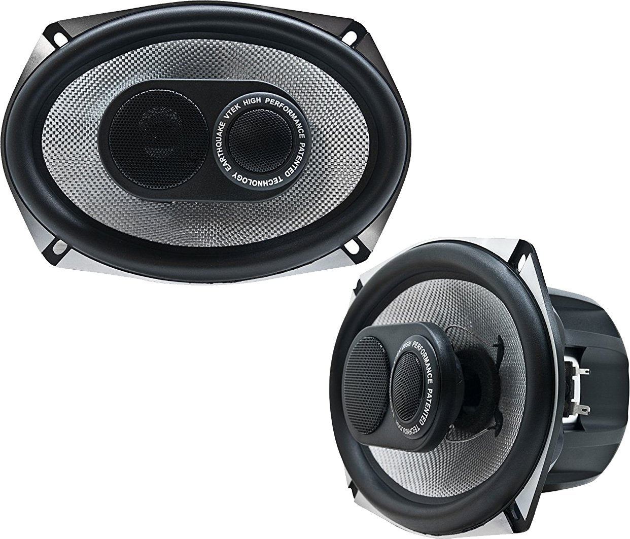 Earthquake Sound VTEK-693 6x9-inch 3-Way Coaxial Speakers with PistonMax Technology (Pair)