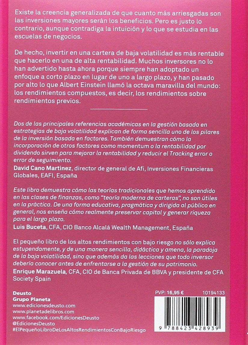 El peque�o libro de los altos rendimientos con bajo riesgo: Pim / Koning, Jan de Van Vliet: 9788423428939: Amazon.com: Books