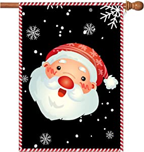 Christmas Flags,Christmas Garden Flags Double-Sided Outdoor Christmas House Flags with Grommets 28 x 40 Inch Double Thickness Burlap Santa Garden Flag for Christmas Garden and Yard Decoration