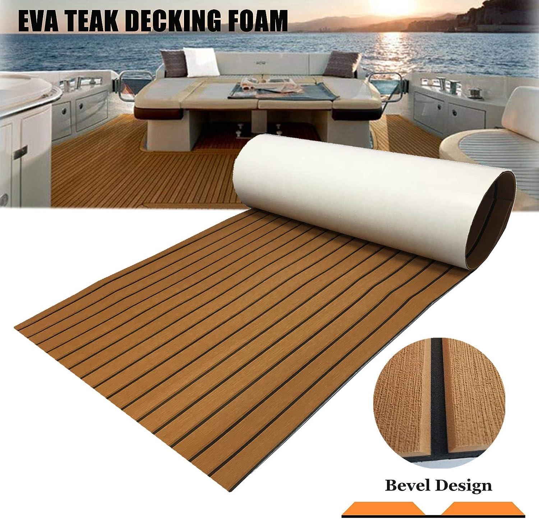 Adhesive eva Teakholz Marine Bodenbelag Yacht Boot Decking Randstreifen Pad