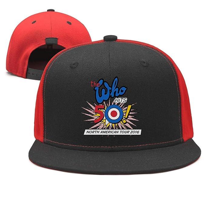 Amazon.com  Rock Band Poster Design Baseball Cap Adjustable Flat Brim Dad  hat Snapback Unstructured  Clothing 105915c60