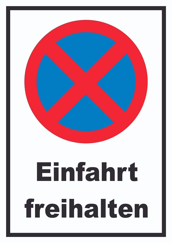 HB Impresión Prohibido aparcar prohibida freihalten Cartel ...