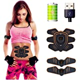 腹筋ベルト 筋トレマシン ダイエット用 腹筋トレーニング 10段階 6つモード USB充電式 男女兼用