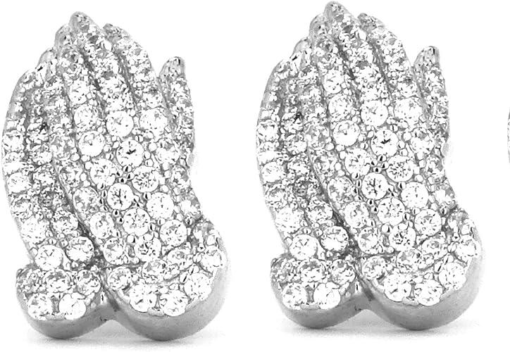 The Pray Hand silver Earrings