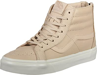 Amazon Com Vans Sk8 Hi Reissue Zip Veggie Leather Tan Mens Fashion