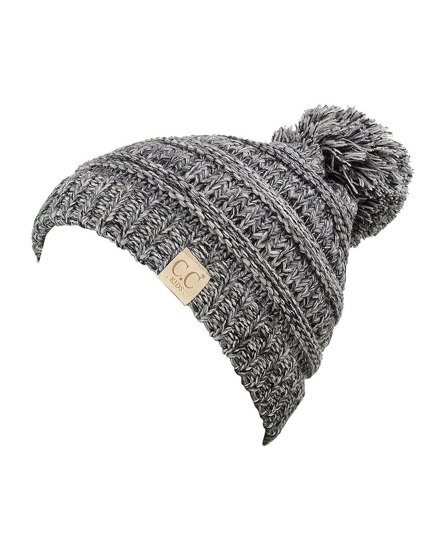 NYFASHION101® Kinder C.C Herzig Warm und Bequem Pom Pom gestrickt Ski Beanie Hut