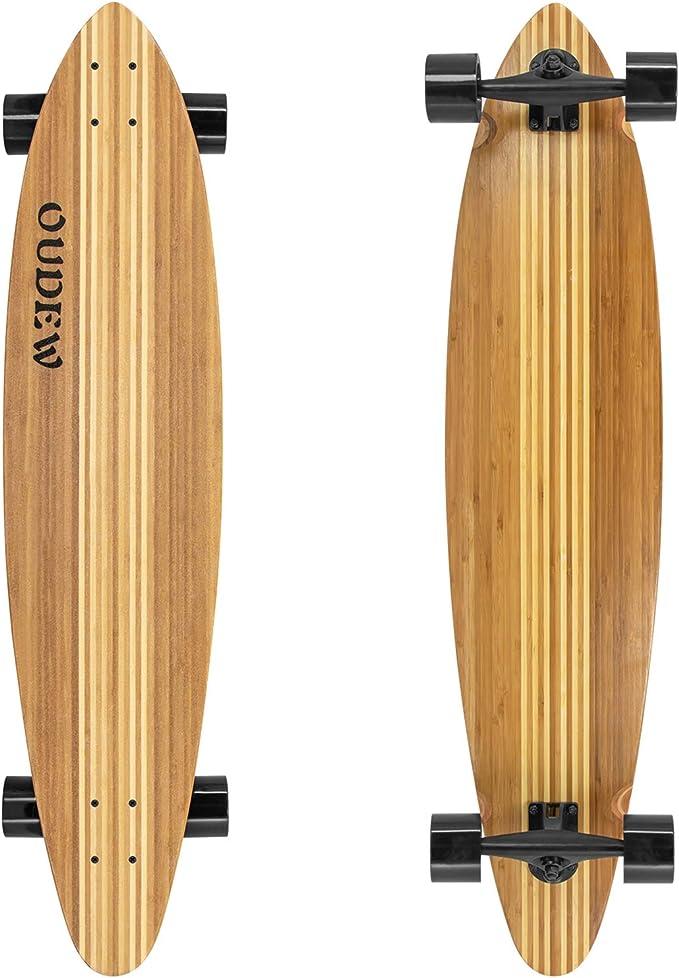 Details about  /OUDEW Longboard Skateboard 41 Inch 8 Layer Canadian Maple Drop Through Longb...