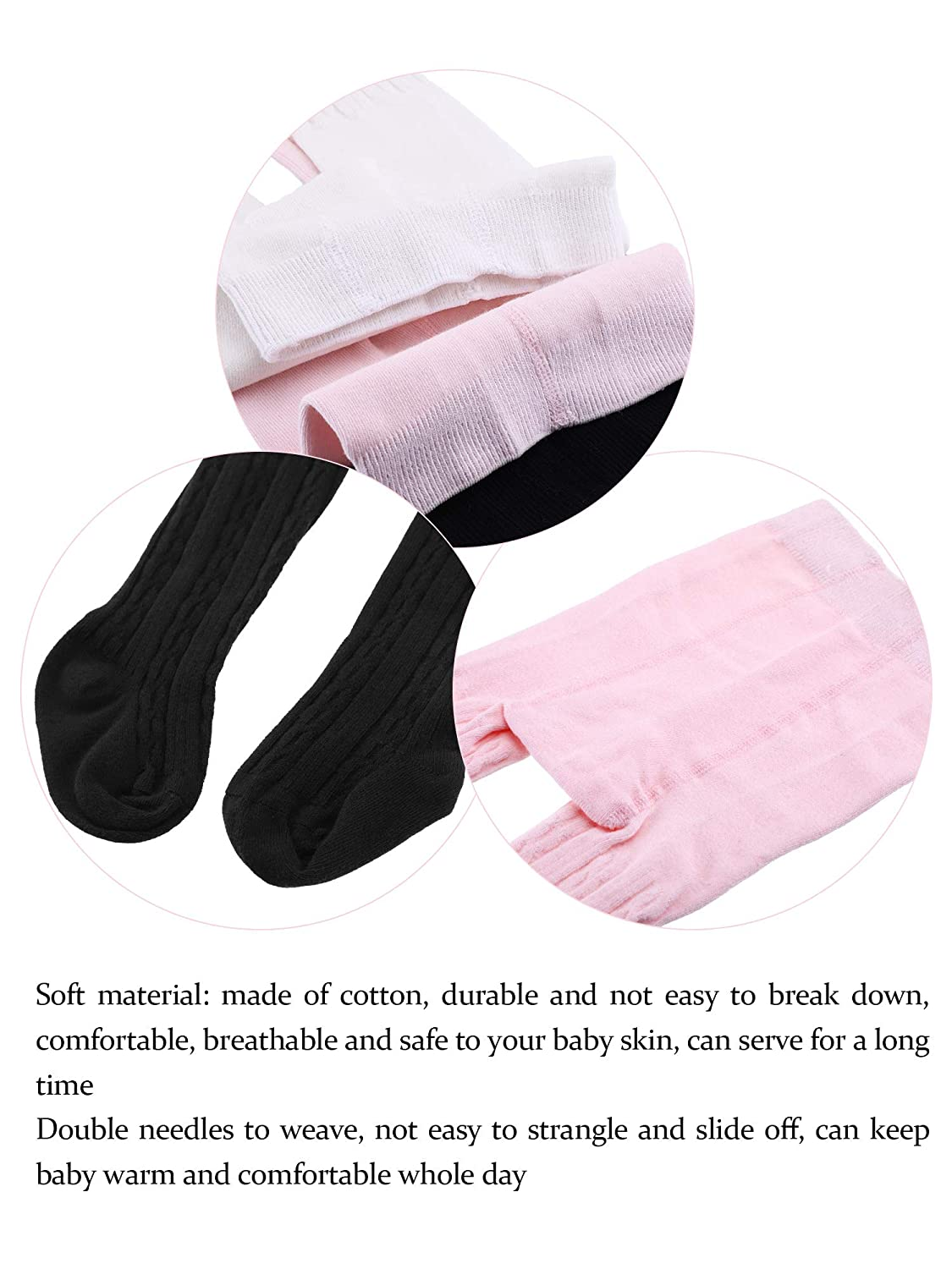 Sumind 4 Pieces Toddler Tights Baby Leg Warmers Solid Color Winter Leggings for Infant Boys and Girls 4 Colors