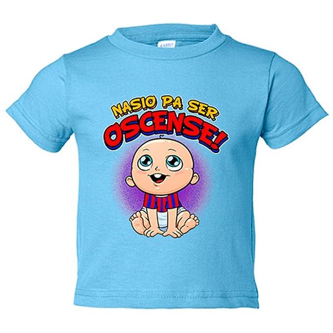 Camiseta niño nacido para ser Oscense Huesca fútbol - Azul Royal, 3 ...