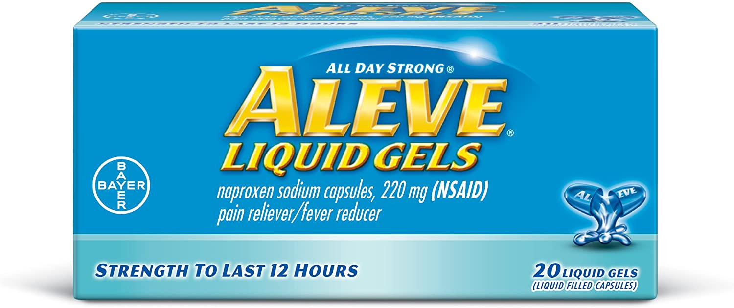 Aleve Liquid Gels with Naproxen Sodium, 220mg (NSAID) Pain Reliever/Fever Reducer, 20 Count: Health & Personal Care