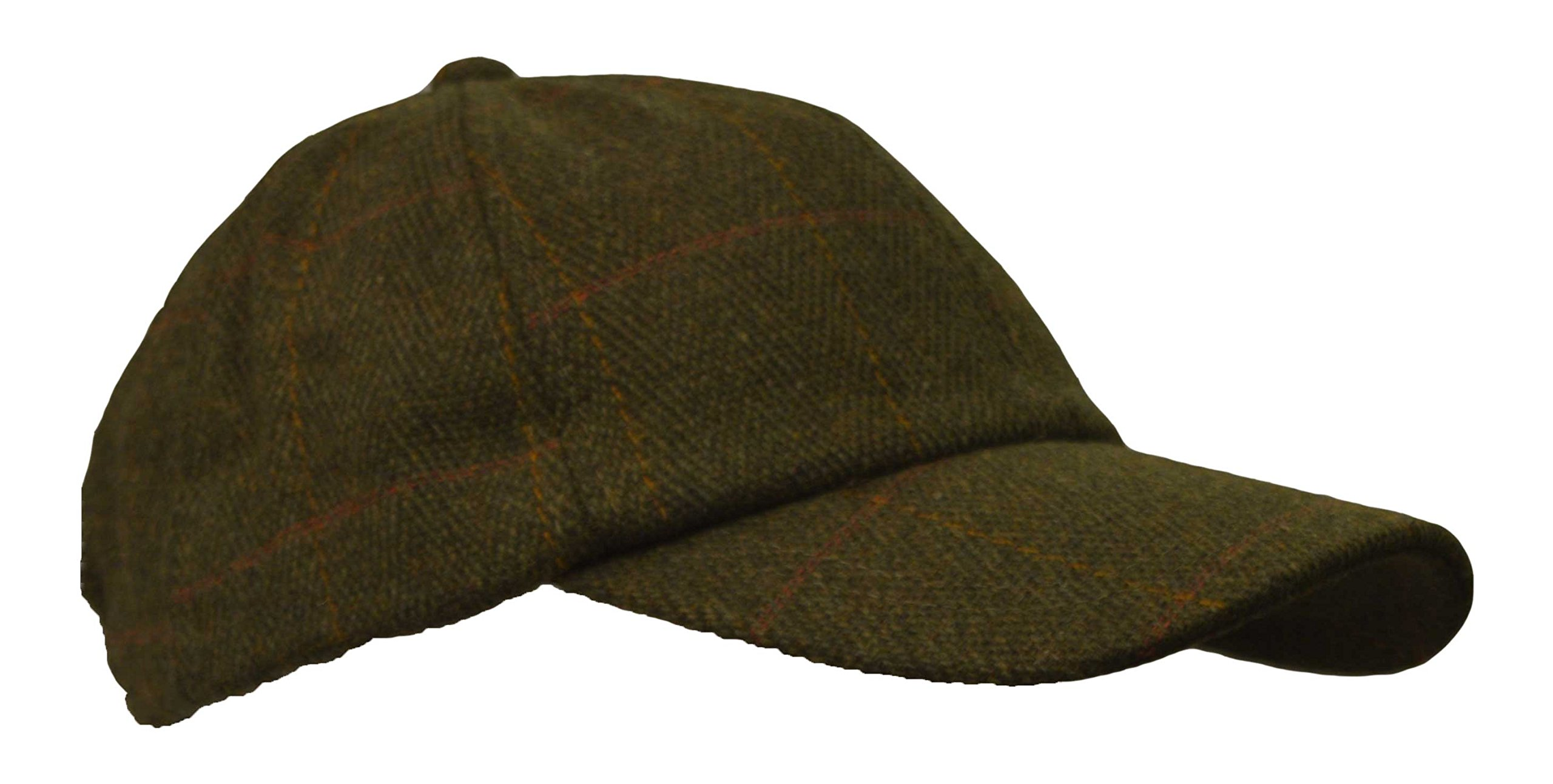 Walker and Hawkes Big Boys' Derby Tweed Baseball Cap Hunting Shooting Hat One Size Dark Sage by Walker and Hawkes