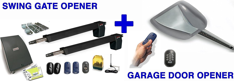 DUCATI DUO PACKAGE : HC812-400 SWING GATE OPENER + 8900BELT GARAGE DOOR OPENER