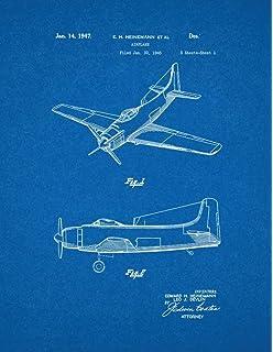 Amazon airplane patent print art poster blueprint 85 x 11 airplane patent print art poster blueprint 85 x malvernweather Choice Image