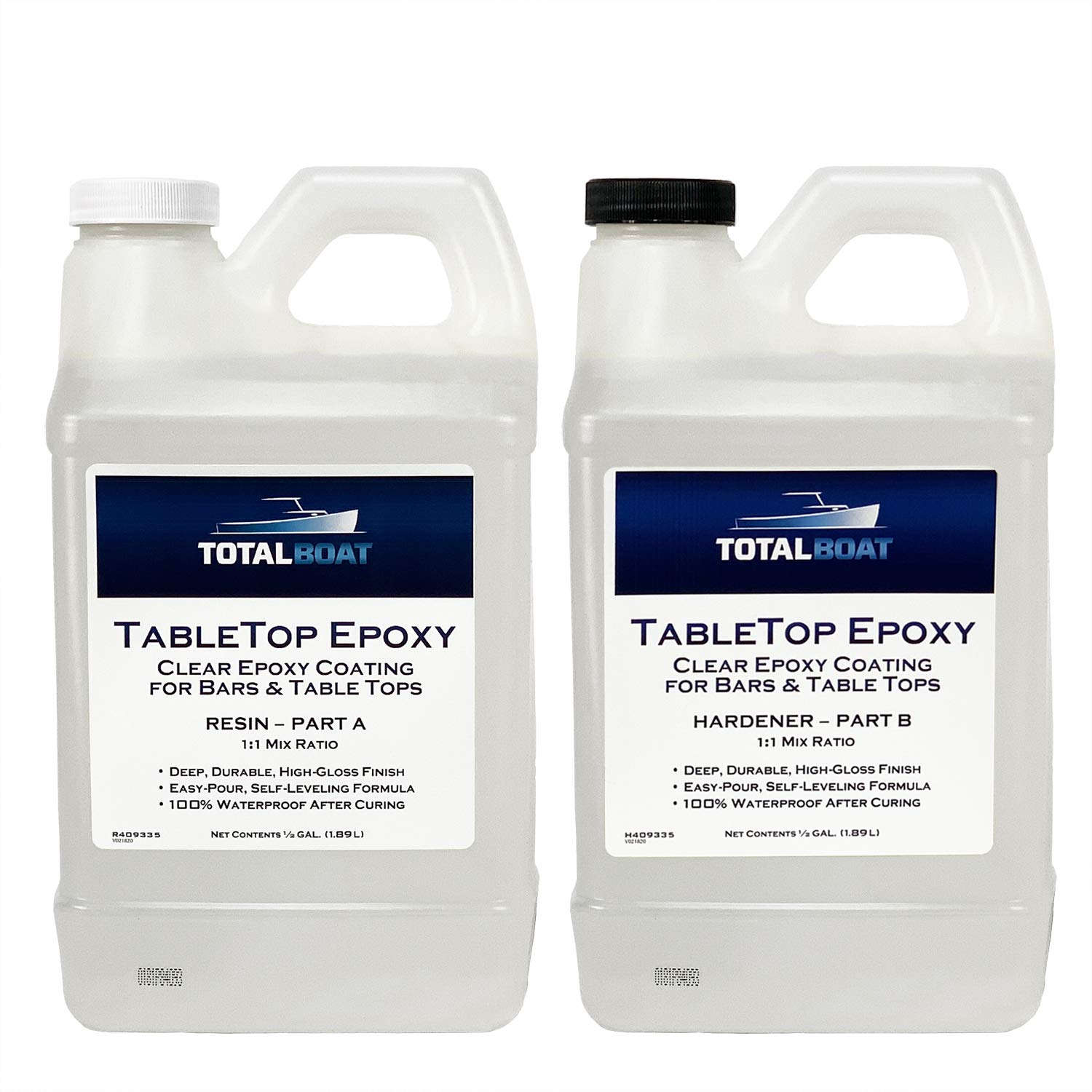 TotalBoat Epoxy Crystal Clear Resin-1 Gallon Kit