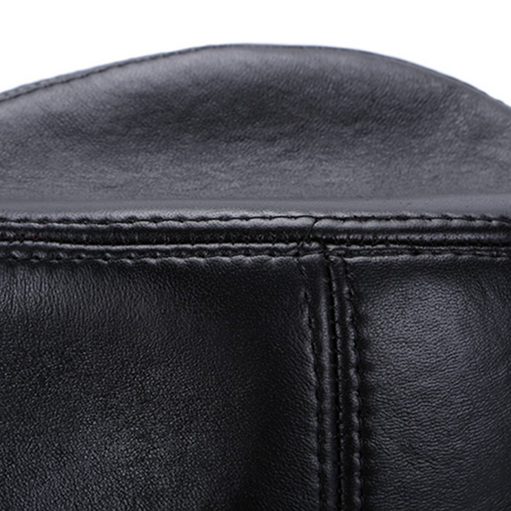 Sandy Ting Genuine Lambskin Fedora Leather Hats Cap