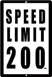 Rogue River Tactical Funny Mechanic Metal Tin Sign Wall Decor Man Cave Bar Speed Limit 200 MPH