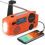 iRonsnow 【2020 Version】 Emergency Solar Hand Crank Portable NOAA Weather Radio with AM/FM, Earphone Jack, LED Flashlight…